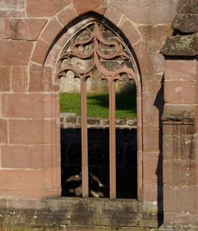 Gothic window in the former cloister at Hirsau Monastery. Image: Calw Tourist Information