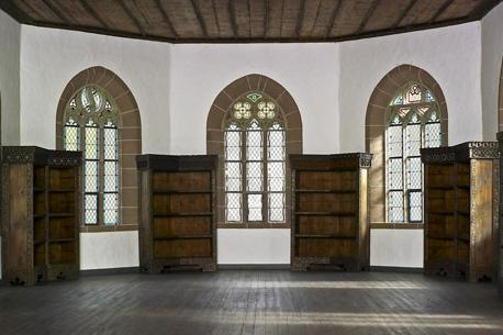 Former library on the second floor of the Chapel of St. Mary at Hirsau Monastery. Image: Staatliche Schlösser und Gärten Baden-Württemberg, Arnim Weischer