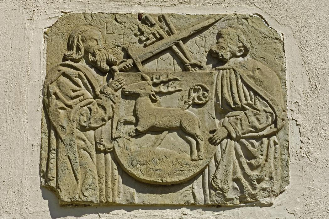 Gotisches Relief in Kloster Hirsau, wohl aus dem 14. Jahrhundert; Foto: Staatliche Schlösser und Gärten Baden-Württemberg, Andrea Rachele