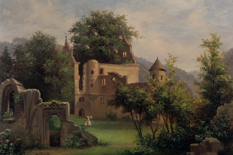 Gemälde von der Ulme in Kloster Hirsau, Sophie Heck, 1886