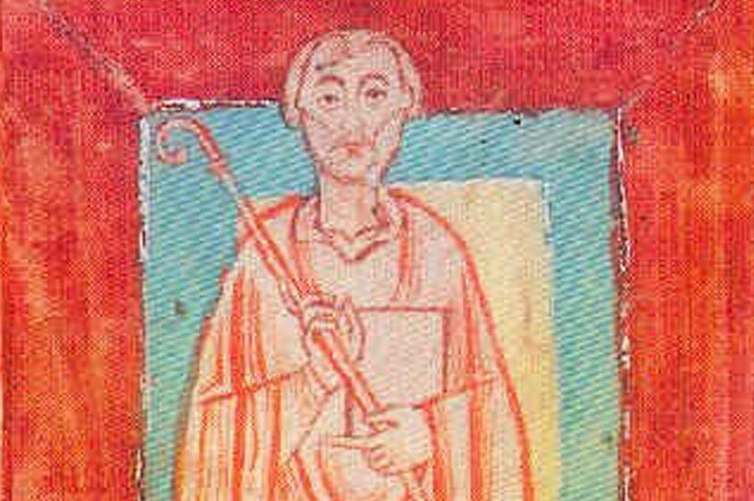 Miniature of Abbot Wilhelm von Hirsau (circa 1030–1091) from the Reichenau Monastery endowment register, circa 1150. Image: Wikipedia, in the public domain