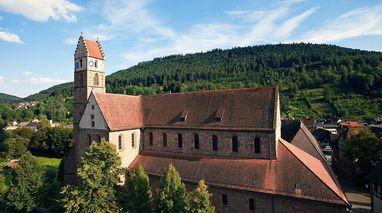 Außenansicht von Kloster Alpirsbach; Foto: Staatliche Schlösser und Gärten Baden-Württemberg, Achim Mende