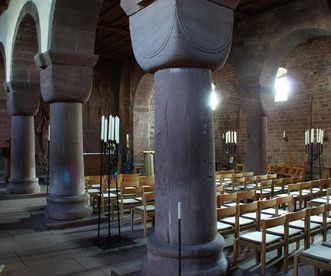Interior of the Church of St. Aurelius at Hirsau Monastery. Image: Calw Tourist Information