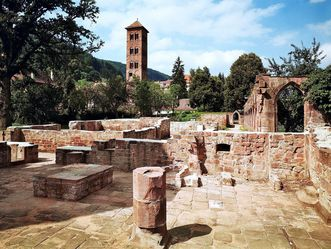 Kloster Hirsau, Außenaufnahme, Blick zum Eulenturm
