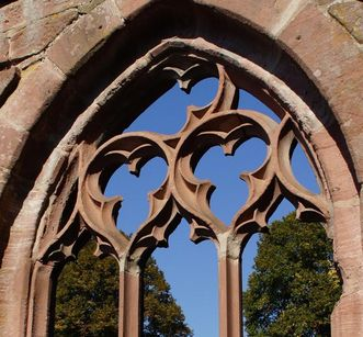Detail of a cloister window at Hirsau Monastery. Image: Calw Tourist Information