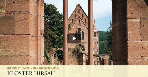 """Startbildschirm des Filmes """"Kloster Hirsau: Informationen Gebärdensprache"""""""