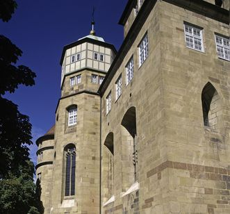 Exterior view of the palace church at the Old Castle Stuttgart. Image: Staatliche Schlösser und Gärten Baden-Württemberg, Steffen Hauswirth