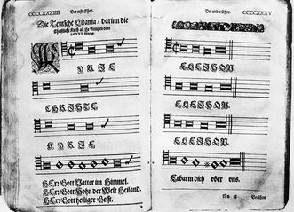 Württemberg church choral book from the Reformation. Image: Landesmedienzentrum Baden-Württemberg, credit unknown
