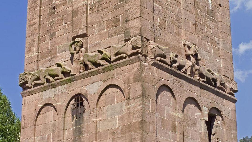 Detail vom Westfries am Eulenturm von Kloster Hirsau