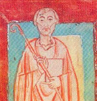 Portrait of Abbot Wilhelm von Hirsau in the Reichenbach gift registry, circa 1150. Image: Wikipedia, in the public domain