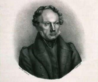 Bildnis Ludwig Uhland, Lithografie um 1850