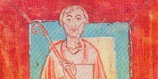Miniature of Abbot Wilhelm von Hirsau (circa 1030–1091) from the Reichenau Monastery endowment register, circa 1150.