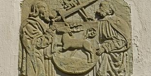 Gothic relief at Hirsau Monastery, likely from the 14th century