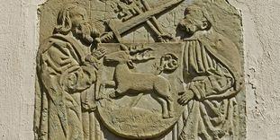 Gotisches Relief in Kloster Hirsau, wohl aus dem 14. Jahrhundert