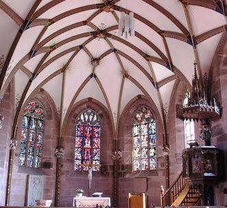 Innenansicht der Marienkapelle im Kloster Hirsau; Foto: Staatliche Schlösser und Gärten Baden-Württemberg, Corinna Greb
