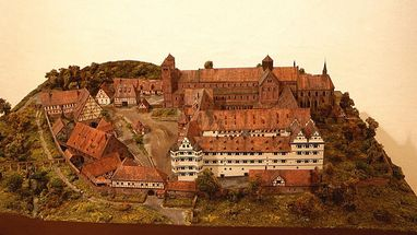 Model of Hirsau Monastery prior to its destruction in 1692. Image: Landesmedienzentrum Baden-Württemberg, Andrea Rachele
