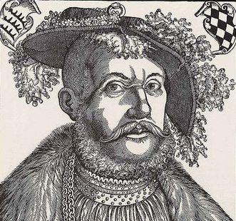Duke Ulrich von Württemberg, woodcut by Hans Brosamer, circa 1540. Image: Wikipedia, in the public domain