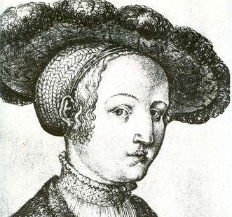 Porträt der Herzogin Sabina von Bayern, ca. 1530; Foto: Wikipedia, gemeinfrei