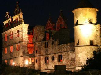 Jagdschloss von Kloster Hirsau bei Nacht