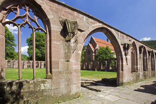 Gothic ogival arches at Hirsau Monastery. Image: Staatliche Schlösser und Gärten Baden-Württemberg, Andrea Rachele