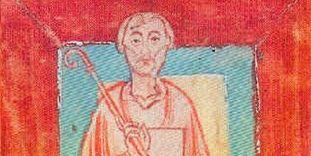 Miniatur des Abtes Wilhelm von Hirsau (1030-1091) aus dem Schenkungsverzeichnis des Klosters Reichenau, um 1150
